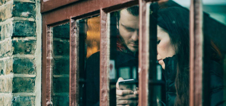 couple in window